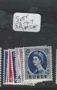 BRITISH PO IN MIDDLE EAST (P0903B) MUSCAT QEII ON GB SG 58, 59-64  MOG