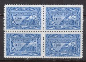 Canada #302 VF/NH Block