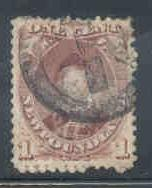 Newfoundland Sc 32A 1871 1 c Prince of Wales stamp used