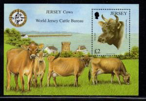 Jersey Sc 1318 2008 Cattle Bureau stamp sheet mint NH