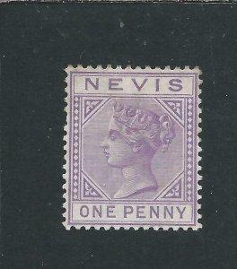 NEVIS 1879-80 1d LILAC-MAUVE MM SG 23 CAT £80