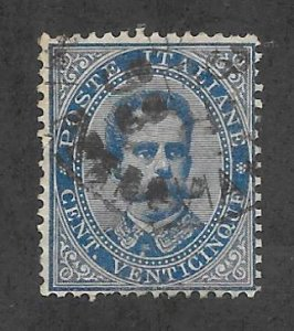 Italy Scott 48 Used 25c King Humbert I 2018 CV $7.25