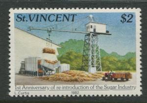St Vincent - Scott 642 - Sugar Industry -1982 - MNH - Single $2.00c Stamp