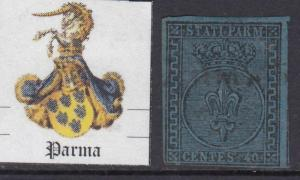 ITALY Ancient Ducates  PARMA 1852 - n.5a  cv 2000$  lightly used