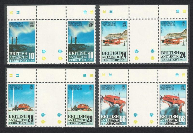 BAT 30th Anniversary of Commonwealth Trans-Antarctic Expedition 4v Gutter Pairs
