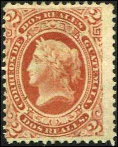 Guatemala SC# 10 Liberty 2r MNG  SCV $42.50