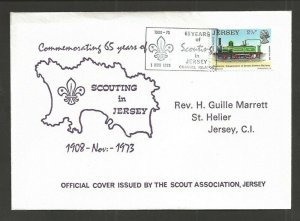 1973 Jersey Channel Islands 65 years of Scouting