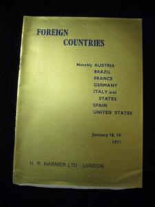 H R HARMER AUCTION CATALOGUE 1971 FOREIGN