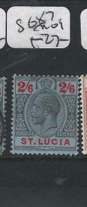 ST LUCIA  (P2705BB)  KGV  2/6    SG 87   MOG