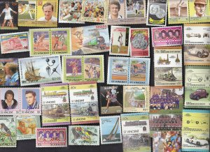 149 All Different ST. VINCENT AND GRENIDINES Stamps