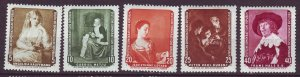 J24166 JLstamps 1959 germany DDR set mh #439-43 paintings