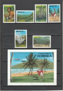 DOMINICA 1074-1080 MNH 2019 SCOTT CATALOGUE VALUE $5.20