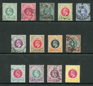 Natal SG127/139 Set of 13 Inscr Postage Revenue wmk Crown CA Mixed mint and used