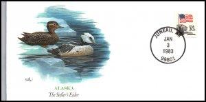 US Steller's Eider AK Waterbird 1983 Fleetwood Cover