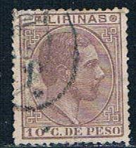 Philippines 85 Used King Alfonso 1880 (P0250)