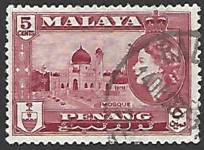 Malaya Penang #48 Used Single Stamp