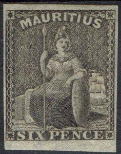 MAURITIUS 1859 BRITANNIA 6D IMPERF