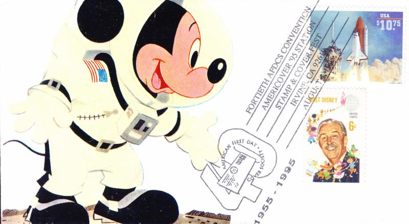 Bonnie-Frison-FDC-1995-HP-Numbered-9-10-Cachet-Mickey Mouse