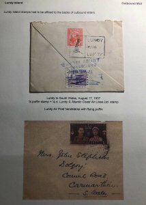 1937 Lundy Channel Island England Cover To South Wales Atlantic Coast Airlines