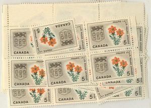 Canada - 1966 5c Prairie Lily X 100 VF-NH #425