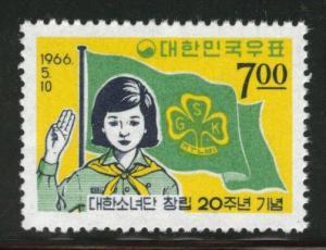 Korea Scott 510 MNH** 1966 girl scout stamp