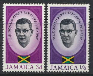 Jamaica SG 262-3 Mint Hinged   SC# 261-62 Sangster Memorial see details