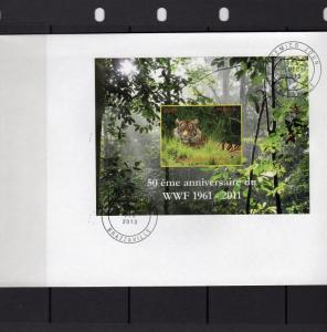 Congo Republic 2013 WWF 50th.Anniversary SS (1) Imperforated  FDC