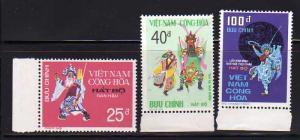 South Vietnam 509-511 Set MNH Theater Costumes (D)