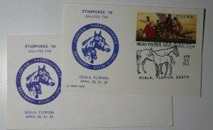 STAMPOREE Florida Thoroughbred Breeders Assoc Ocala FL 1979 Philatelic Cachet