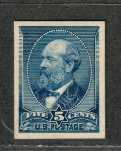 US Sc#216p4 M/EF, Plate Proof On Card, Cv. $50