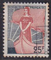France 927 Hinged Used 1959 Marianne & Ship of State