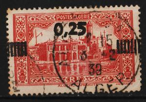 Algeria 1938 Surcharge on 1936  'Admiralty Building' (1/1) USED
