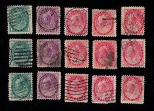 Canada Sc 75-78 Used (Lot Of Fifteen) QV F-VF