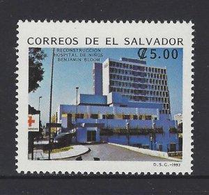 EL SALVADOR BENJAMIN BLOOM CHILDREN'S HOSPITAL Sc 1346 MNH 1993