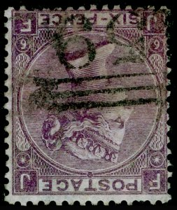 SG96Wi, 6d deep lilac plate 6, FINE USED. Cat £250+ WMK INV. JF