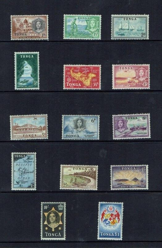 Tonga: 1953 definitive set, Unmounted Mint