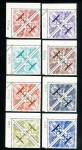 Jordan Stamps # 476-83 VF Triangle pairs OG NH