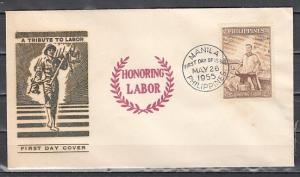 Philippines, Scott cat. 620. Labor-Management issue. First day cover.