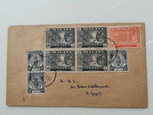 MALAYA 1956 BATU GAJAH LOCAL MAIL WITH 8 PERAK STAMPS