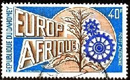Europafrica Issue 1973, Dahomey stamp SC#C190 used