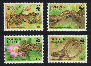Norfolk WWF Endangered Species Skinks and Geckos 4v SG#611-614 MI#604-607 SC#596