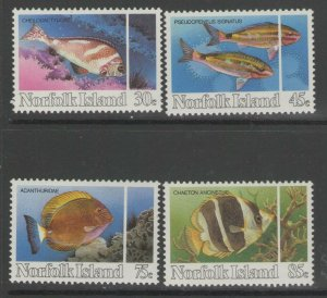 NORFOLK ISLAND SG334/7 1984 REEF FISH MNH