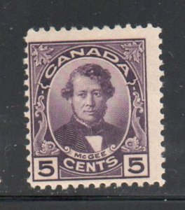 Canada Sc 146 1927 5 c McGee stamp mint NH