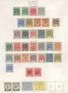 St. Lucia 1912-47 Stamps 1923 Approx. CV. $350 (JH 9/22) GP