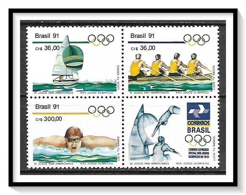Brazil MNH Block 2308a Summer Olympics 1991