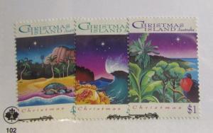 CHRISTMAS ISLAND Scott #354-56 Θ used, nature, postage stamp set,  fine +