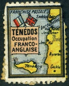 Greece: 1916 TENEDOS French-Anglaise Occupation - fault.