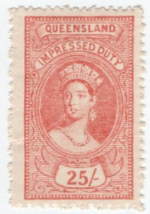 (I.B) Australia - Queensland Revenue : Impressed Duty 25/-