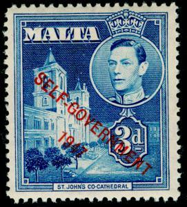 MALTA SG240, 3d blue, M MINT.