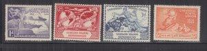 FALKLAND ISLANDS DEPENDENCIES, 1949 UPU set of 4, mnh.